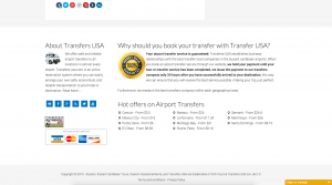 Transfers USA - Desarrollo web playa del carmen - CG Medios
