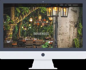 Diseño web para restaurante Quinta del Piedra Playa del Carmen