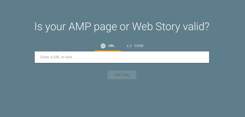 AMP stories Google search console